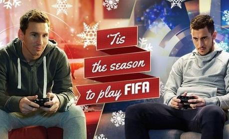 Messi affronte Hazard à Fifa 15 sur un air de Noël