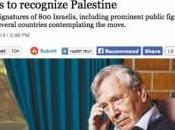 personnalités israéliennes appellent l'Europe reconnaître l'Etat palestinien