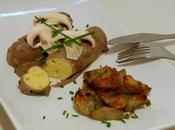 Quenelles sauce champignons porto topinambours rôtis