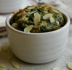Flan aux épinards potiron et gorgonzola