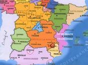 Carte d'Espagne provinces pour voir refuges