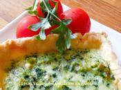 Tarte double fromage poireaux épinards