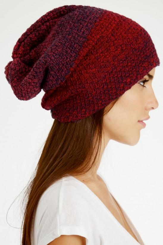 Large red knit cap trendy