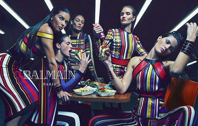 La nouvelle campagne advertising de Balmain pour le printemps 2015...