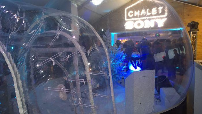Sony noel  igloo chalet sony noel photo