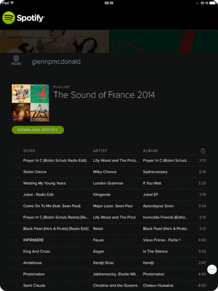 Spotify Best of 2014 France