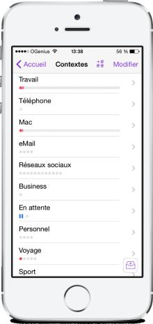 Omnifocus iPhone iOS 8