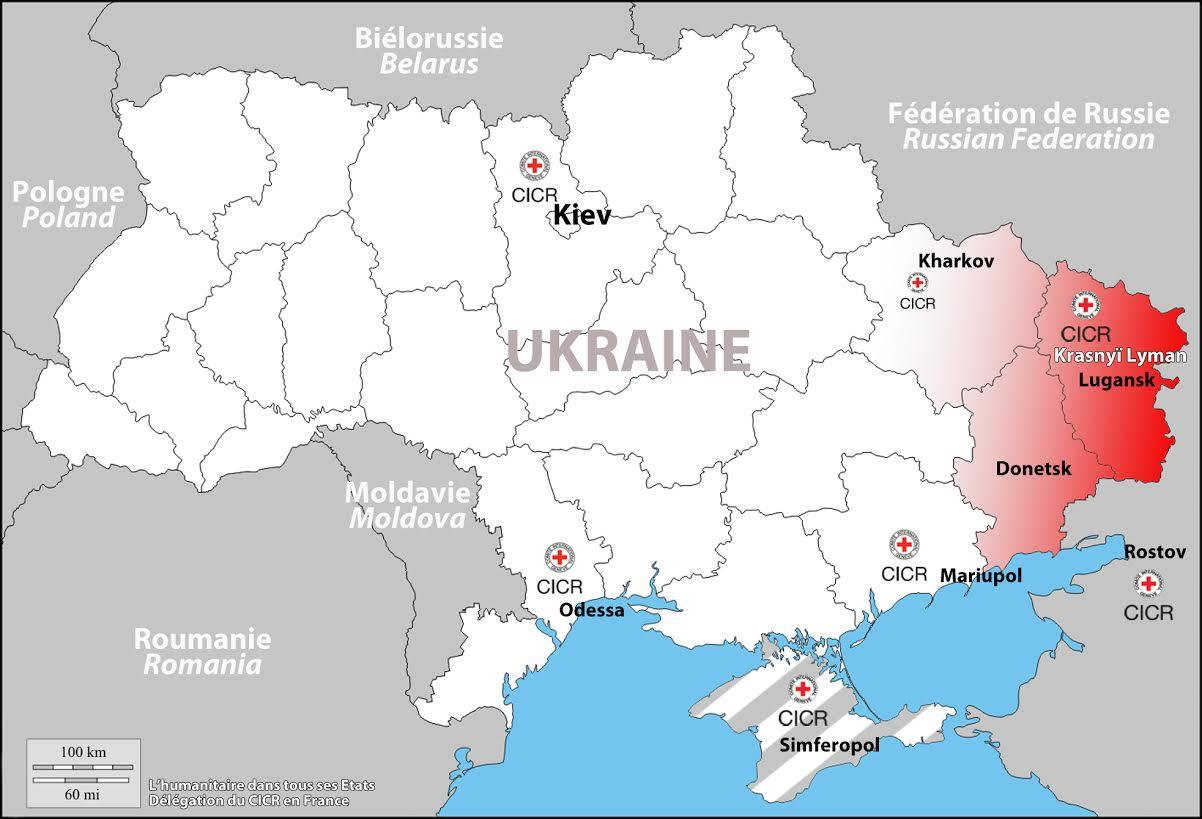 carte Ukraine CICR