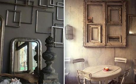 Idée decoration murs cadres vides
