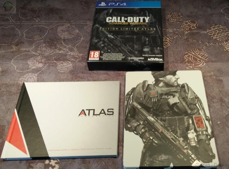 [Unboxing] Call of Duty Advanced Warfare – Edition Atlas – PS4