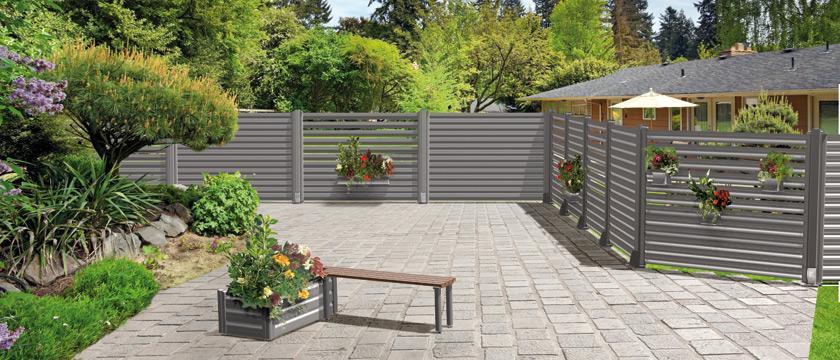 Brise vue moderne et original en aluminium cosmos par cetal paperblog - Par vue de jardin ...