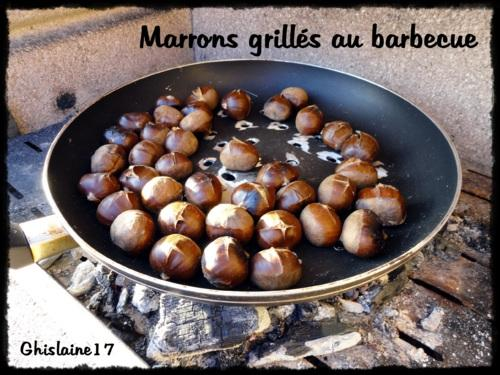 Marrons grillés au barbecue