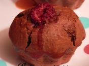 Muffins Cacao, Noisettes, Ricotta Framboises Coup pouce