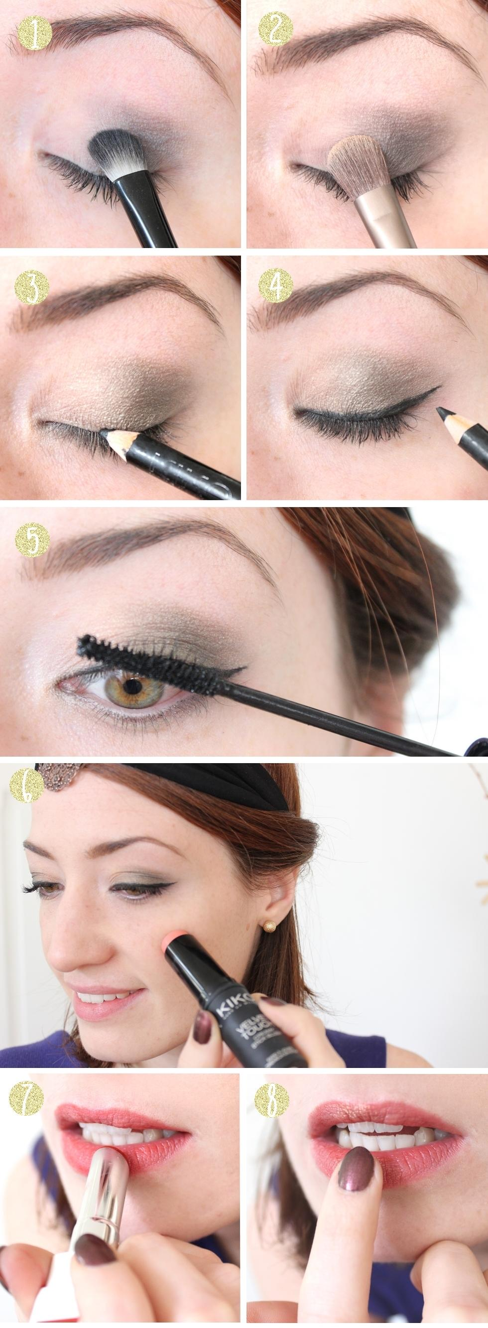 Tuto step by step : un make-up doré