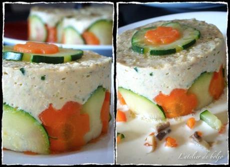 Mousseline de poisson aux petits légumes, sauce citronnelle