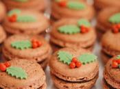 Macarons chocolat pour Noël