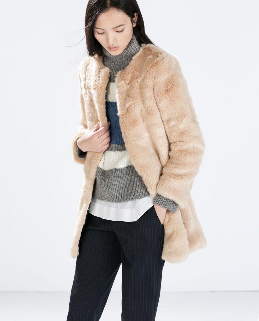 le manteau de fausse fourrure la tendance de l hiver lire. Black Bedroom Furniture Sets. Home Design Ideas