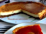Cheesecake avec coulis fraise