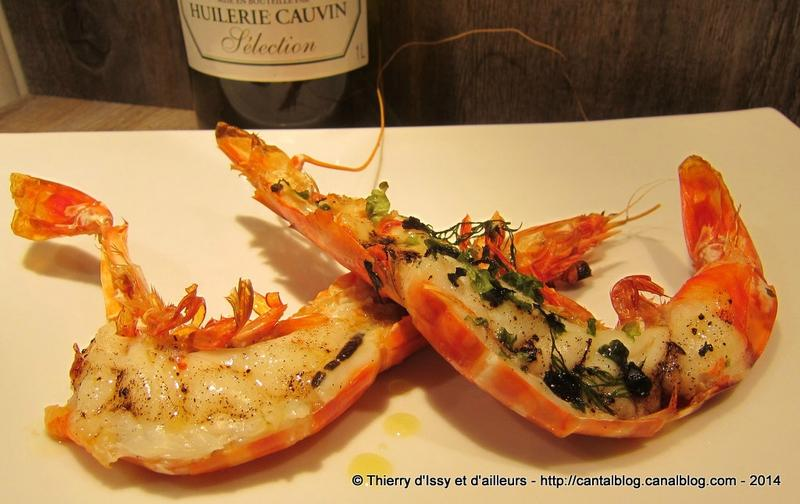 GAMBAS HUILE OLIVE ET VANILLE