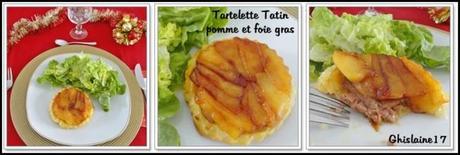 Tartelettes Tatin pomme et foie gras