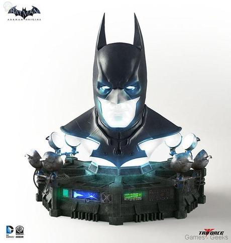 Batman Arkham Origins Cowl Full Scale Replica Geek : Sélection de figurines de lunivers Batman