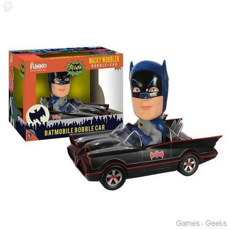 Batman 1966 TV Series Batmobile Bobble Head Vehicle Geek : Sélection de figurines de lunivers Batman