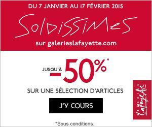 Soldes hiver 2015 galeries Lafayette