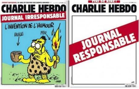 charlie, hebdo, couverture, responsable, irresponsable, blanche