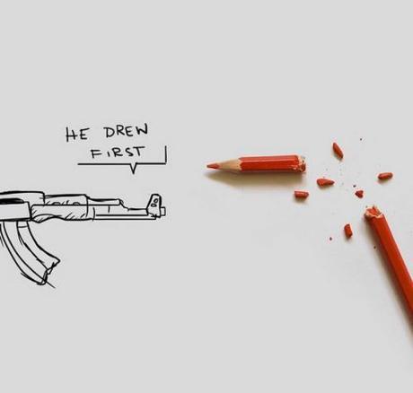 charlie hebdo, he drew first