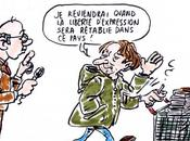 Caricature Michel Houellebecq