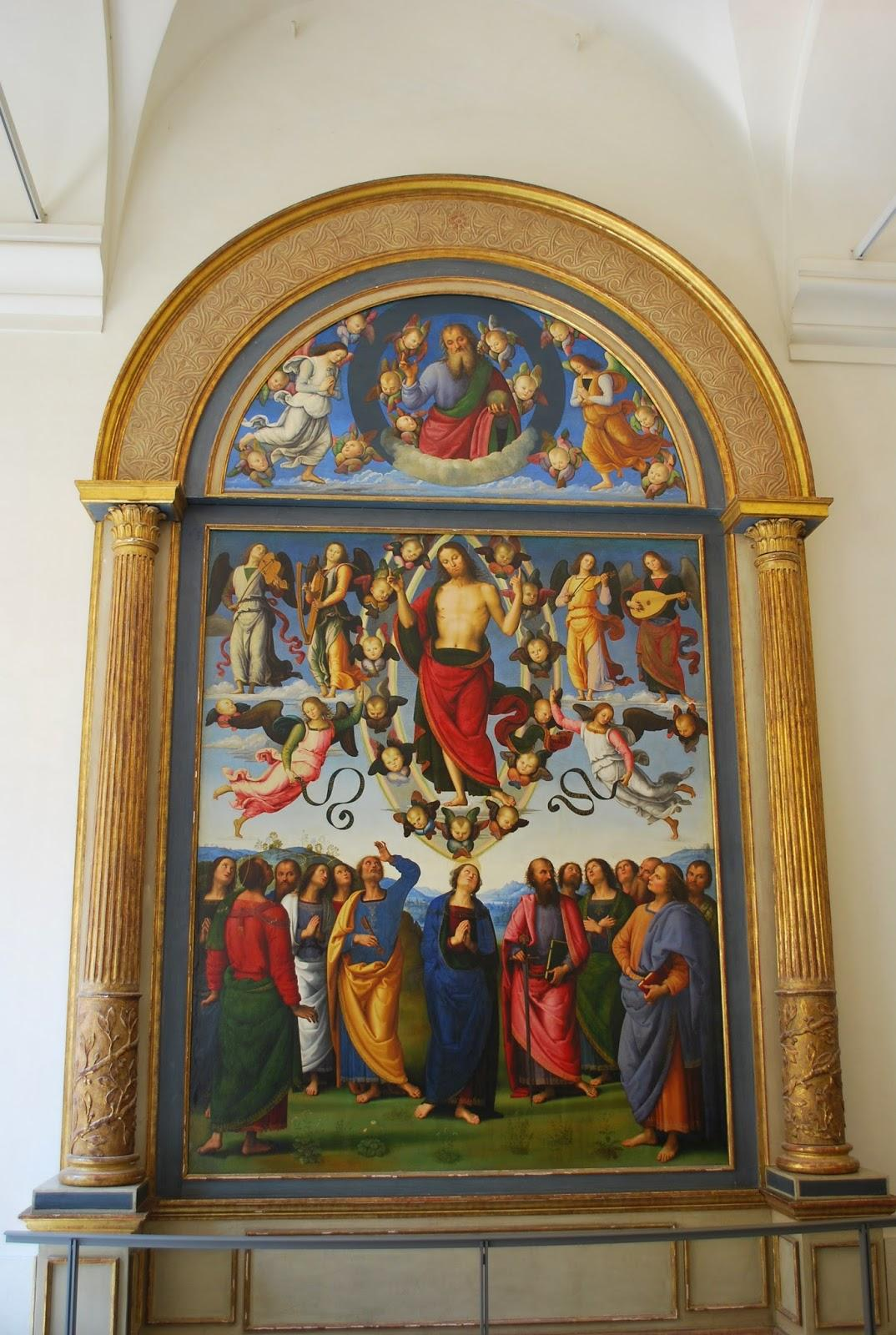 Le Pérugin, Ascension du Christ