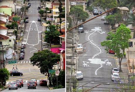 Le bestiaire routier de Sao Paulo, par Tec - Street Art