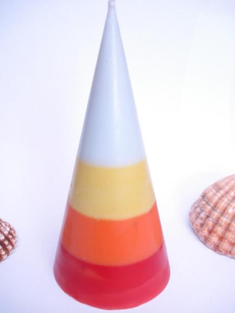 bougie cone orange 1