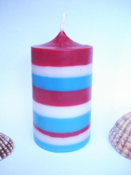 bougie cylindre  drapeau francais 2