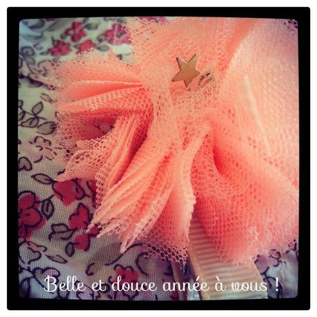 Que votre année soit aussi douce que le tissu, aussi aérienne que la tulle et aussi fleurie que le Liberty ! #mouahahah #jeris