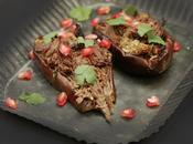Aubergines viande boeuf (restes )parfumées mélasse grenade, with beef pomegranate molasse