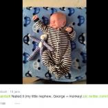 Usain Bolt s'éclate avec les bébés faisant le même geste que lui