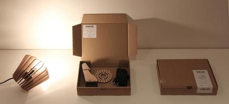 Oskar, une lampe modulable et éco-design par le Studio Louis Morgan
