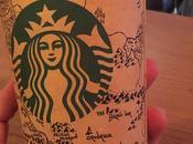 dessine carte Terre Milieu gobelet Starbucks