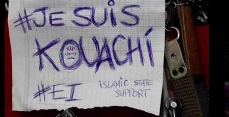 Illustration du mot-clef #JeSuisKouachi (Capture d'écran)