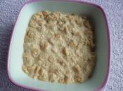 porridge diététique saveur érable avec céréales sons d'avoine yaourt