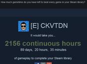 Combien temps pour terminer tous jeux Steam