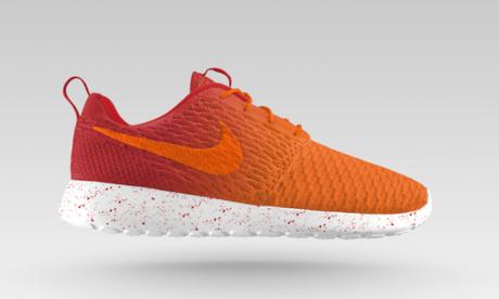 Nike Flyknit Roshe Run iD orange