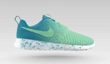 Nike Flyknit Roshe Run iD bleu