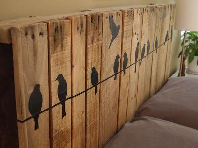 Le look «Palette de bois» dans la chambre à coucher