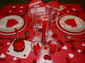 Decorations table saint-valentin