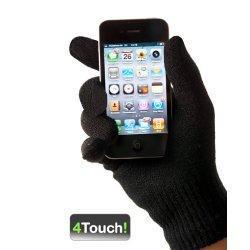 Grâce aux gants tactiles Deluxe de 4Touch! vous n'aurez plus jamais froid aux mains en écrivant un texto ou à enlever vos gants pour décrocher un appel.   Les gants tactiles 4Touch! marchent sur tous les types de iPhones et smartphones  avec écrans t...