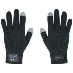 hi-Fun hi-Call Bluetooth Handschuhe - stylische Touchscreen-Handschuhe mit eingebautem Bluetooth-Headset - telefonieren mit der berühmten 'Ruf mich an' Geste - 20 Stunden Gesprächszeit & 10 Tage Standby - einfaches Akku aufladen über USB - halten die...