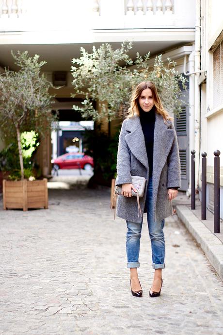 Manteau soft grey
