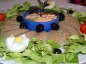 Mousse pain volailles salade